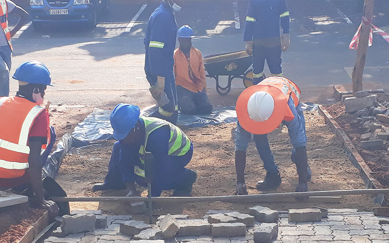 Road works and pavings